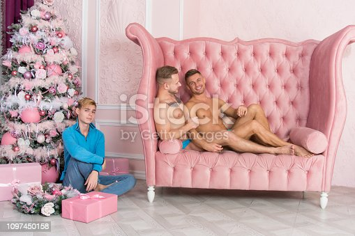 istock Happy family and christmas. 1097450158