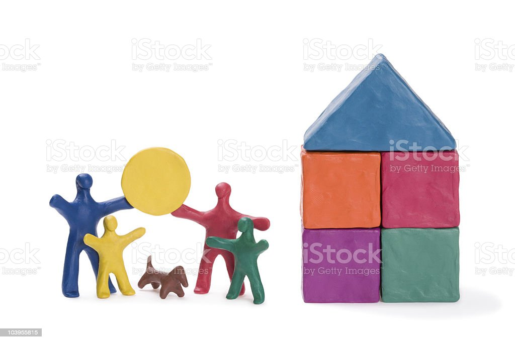 Happy family and sun royalty-free stock photo