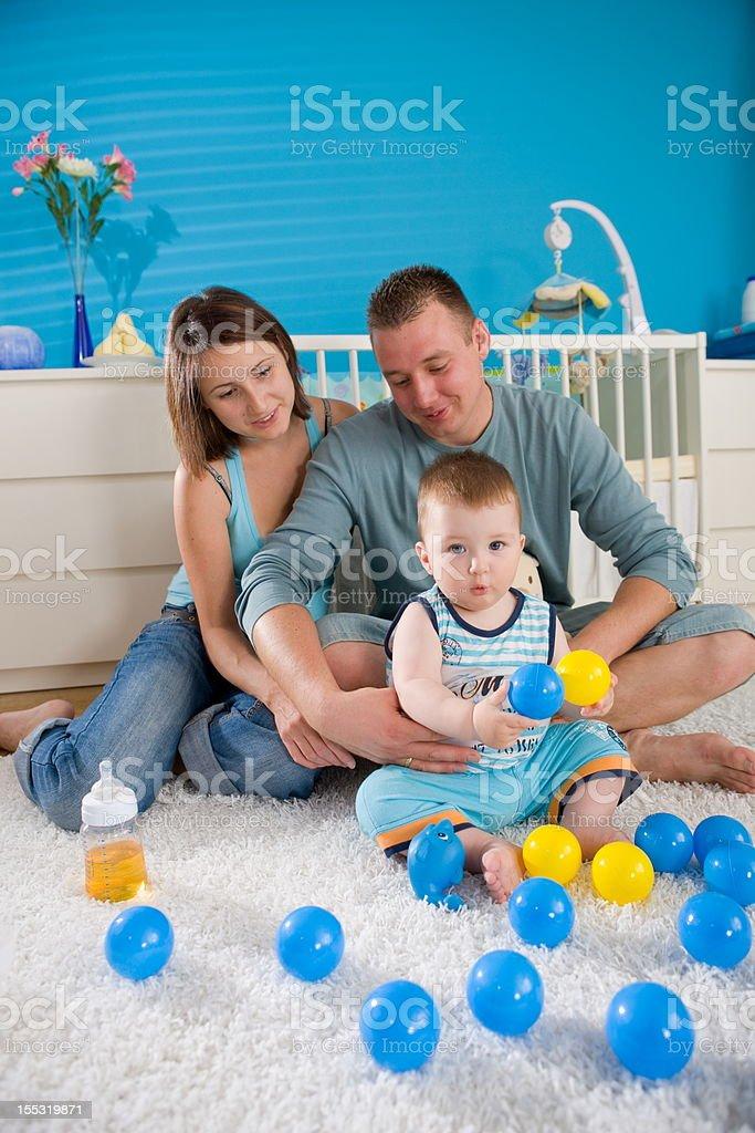 Happy family at home royalty-free stock photo