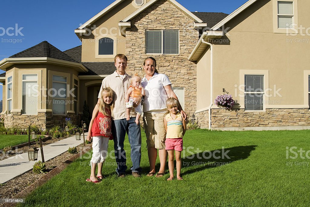 Happy Family at Home royalty-free stock photo