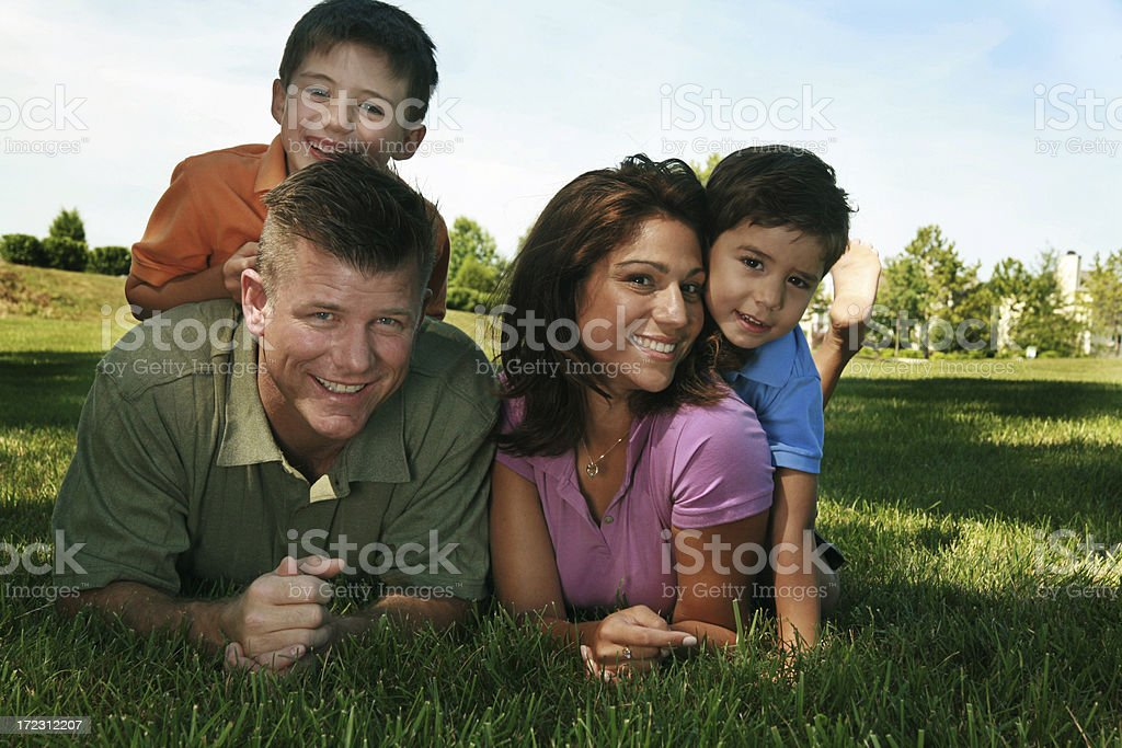 Happy Family at the Park royalty-free stock photo