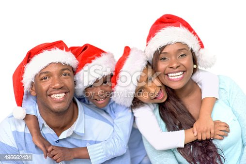 1126155137 istock photo Happy family celebrating Christmas 496662434
