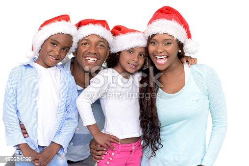 1126155137 istock photo Happy family celebrating Christmas 496684296