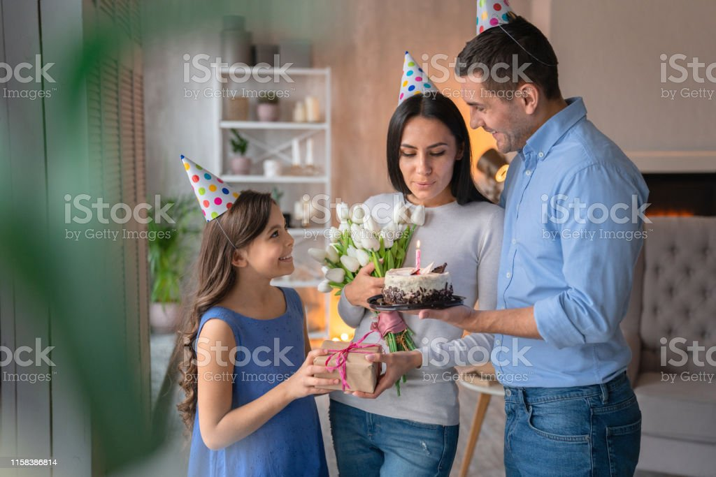 Birthday, Family, Daughter, Bedroom, House