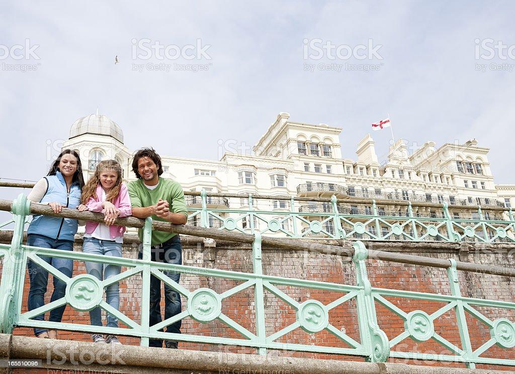 Happy Family Day at Brighton, UK stock photo