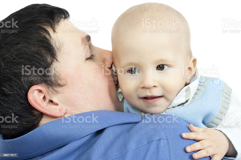 happy family - father and baby royalty-free stock photo