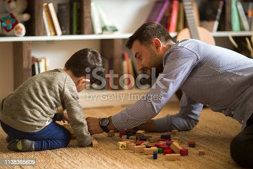540396126istockphoto Happy family father and child son playing 1138365609