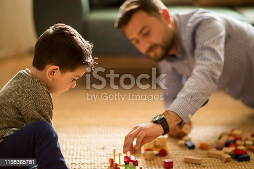 540396126istockphoto Happy family father and child son playing 1138365781