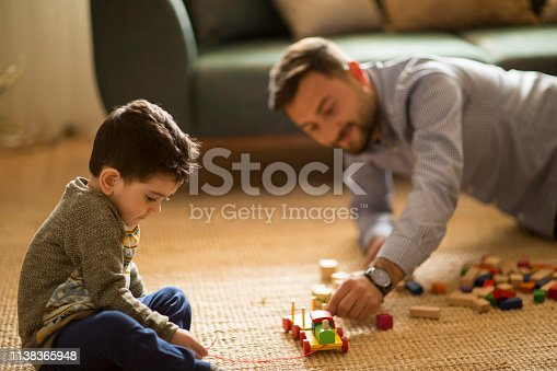 540396126istockphoto Happy family father and child son playing 1138365948