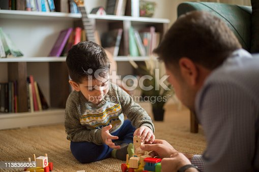 540396126istockphoto Happy family father and child son playing 1138366053