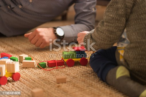 540396126istockphoto Happy family father and child son playing 1138431605
