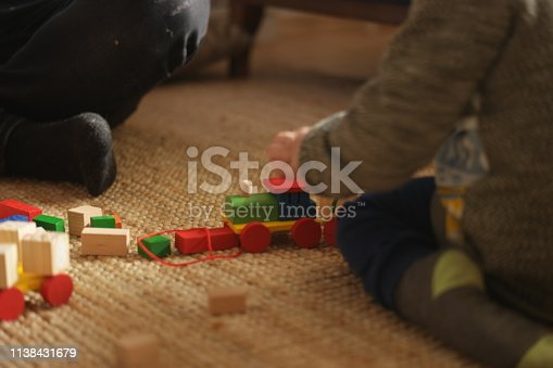 540396126istockphoto Happy family father and child son playing 1138431679