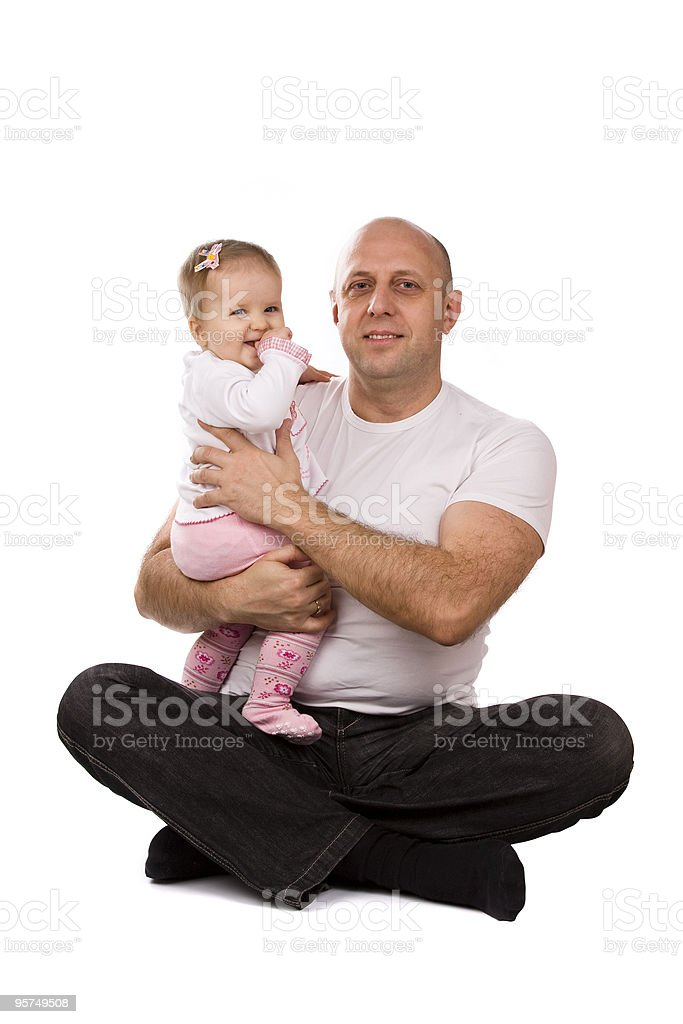 Happy family -  father and little daughter. royalty-free stock photo