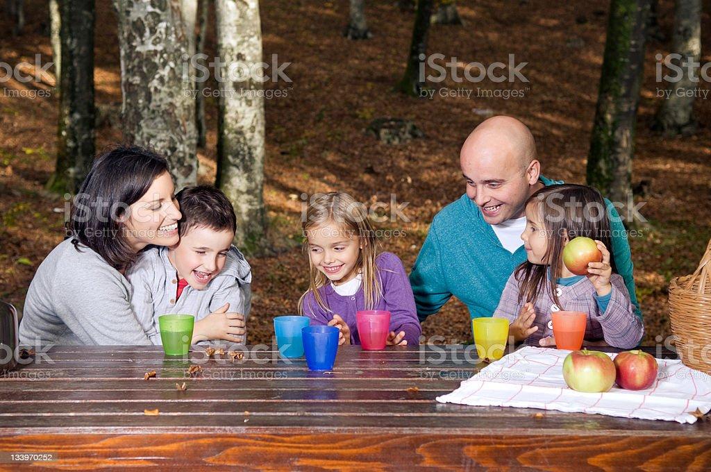 Happy family having fun royalty-free stock photo