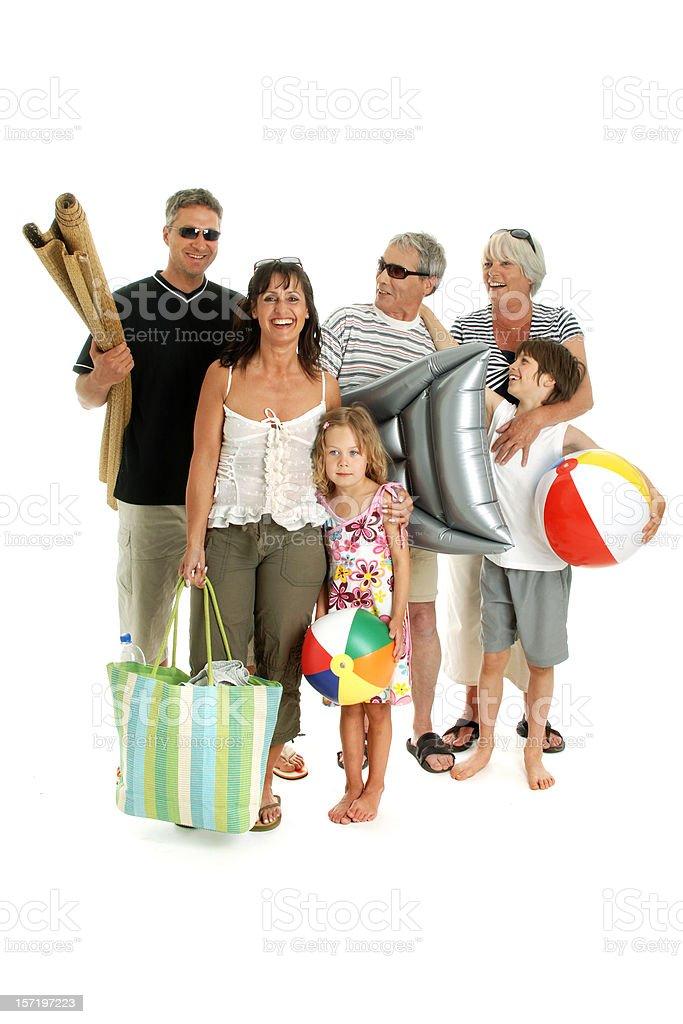 Happy Family Holiday royalty-free stock photo
