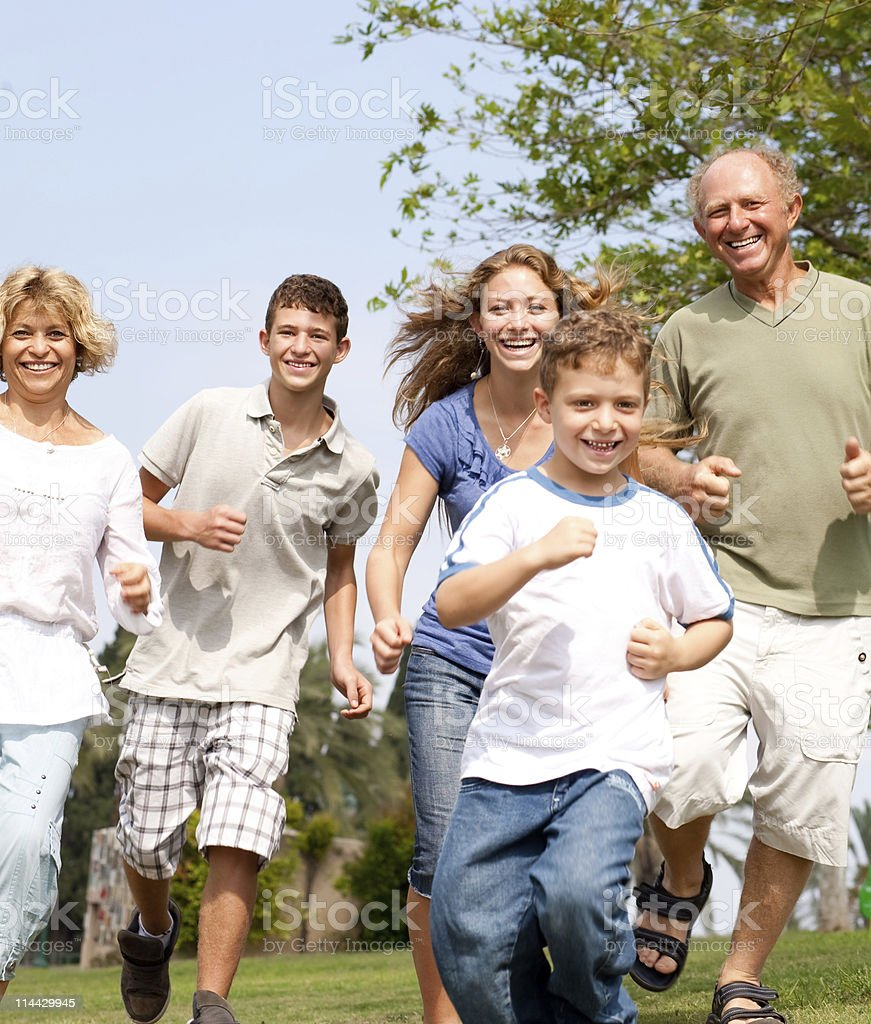 happy family in playful mood royalty-free stock photo
