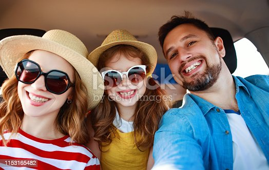 147878016 istock photo happy   family  in summer auto journey travel by car on beach 1153165482