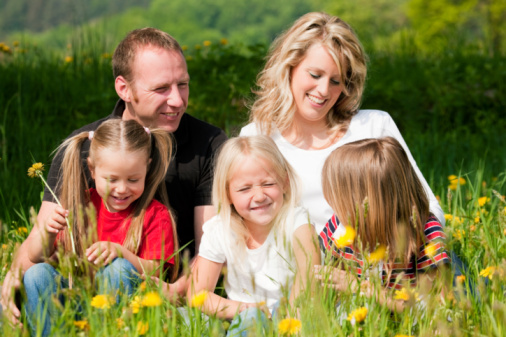 Happy Family In Summer Stock Photo - Download Image Now