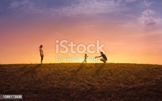 istock Happy family in the park 1089173938