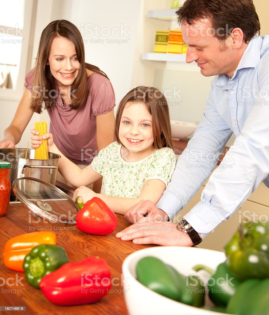 Happy Family is cooking royalty-free stock photo