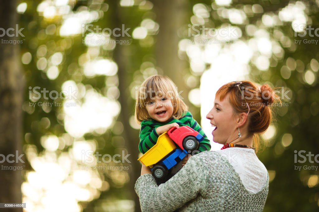 Happy family moments stock photo