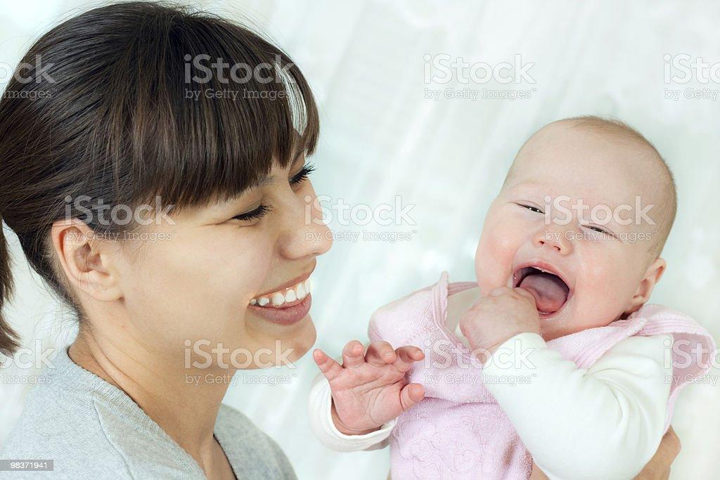 행복함 부품군-엄마와 아기 royalty-free 스톡 사진