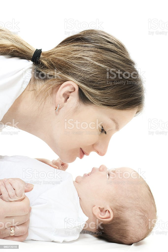 happy family - mother and baby royalty-free stock photo