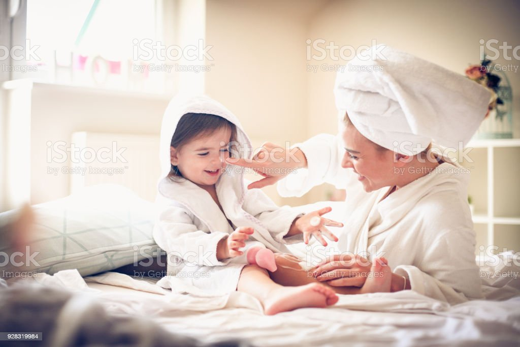 Happy Family. Mother and daughter. stock photo