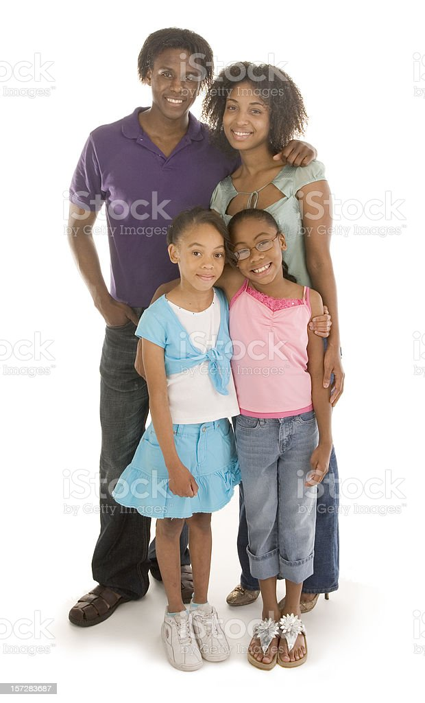 Happy Family of four royalty-free stock photo