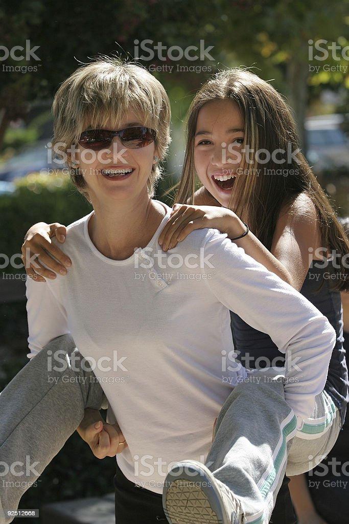 Happy family on a sunny day royalty-free stock photo