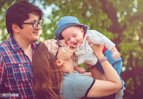 istock Happy family outdoors in summer 922714508