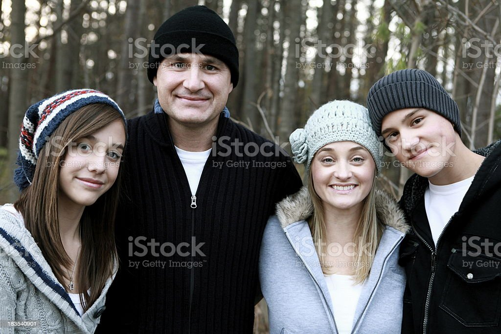 Happy Family Outdoors Together royalty-free stock photo