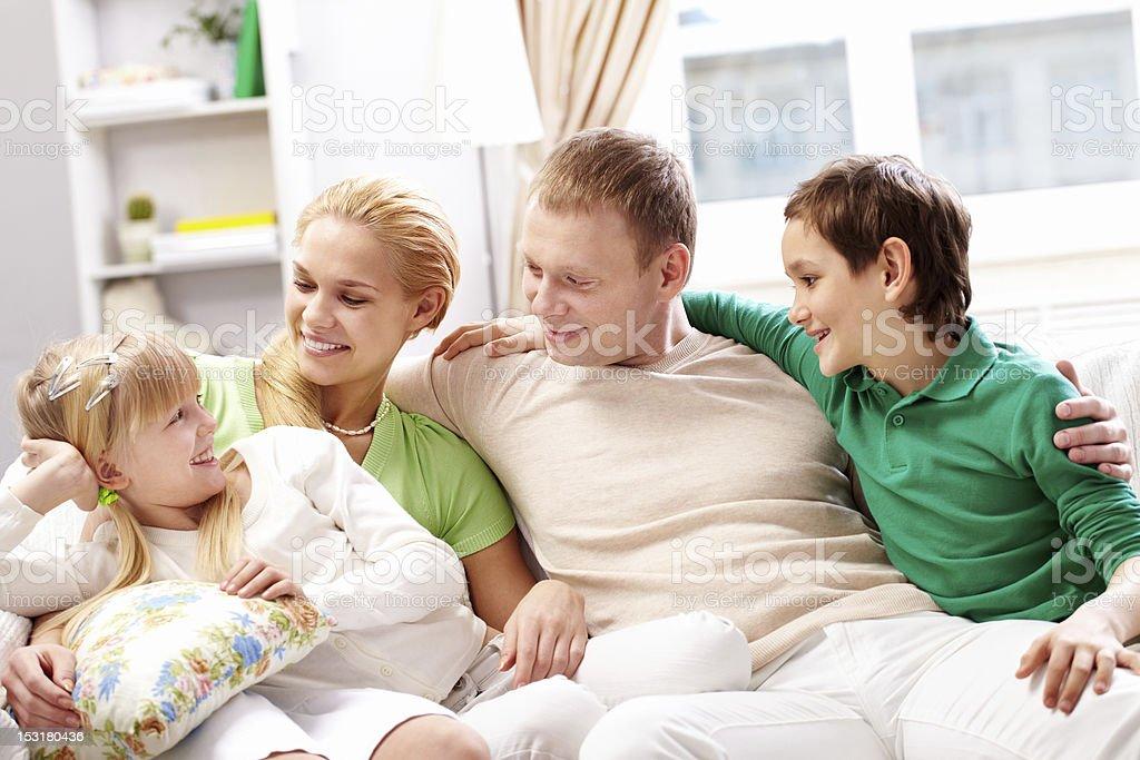 Happy family royalty-free stock photo