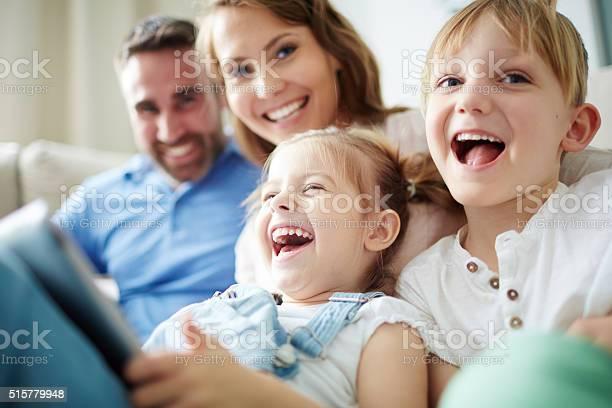 Glückliche Familie Stockfoto und mehr Bilder von Eltern