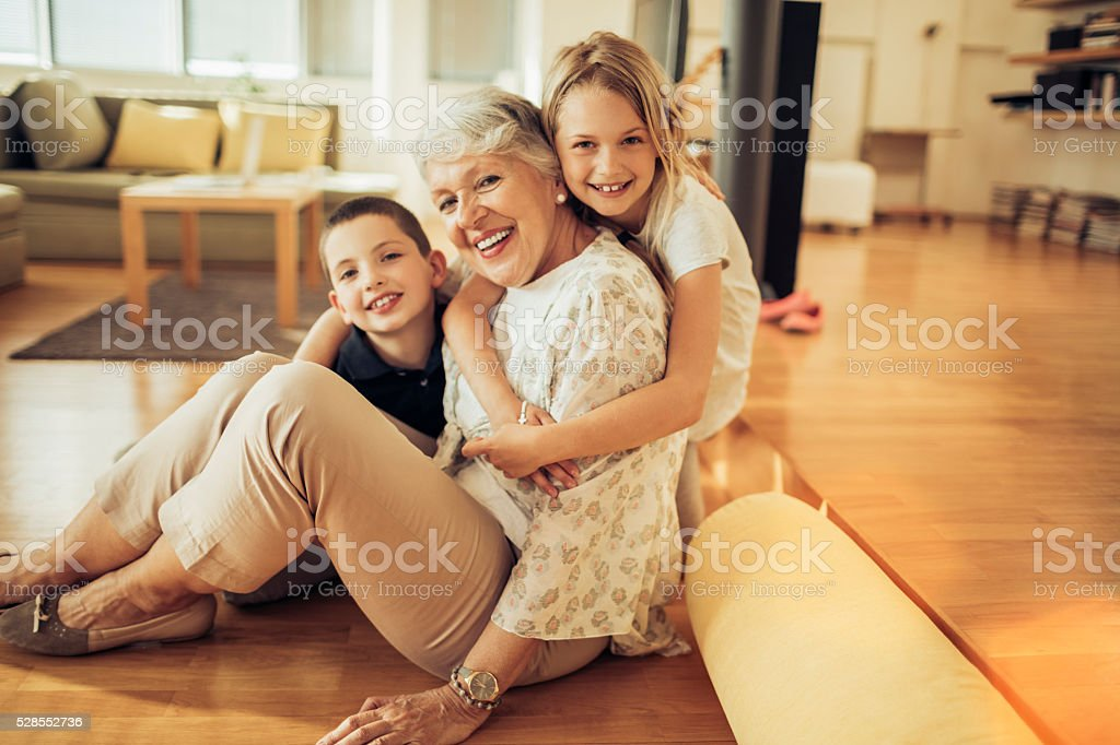 Happy family stock photo