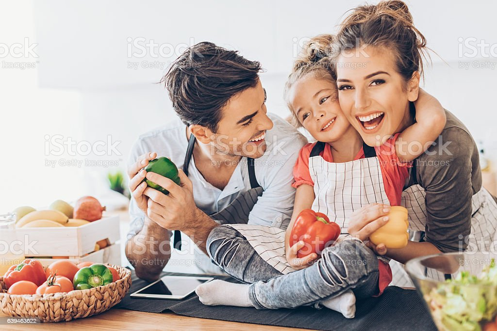 Happy familia  - foto de stock