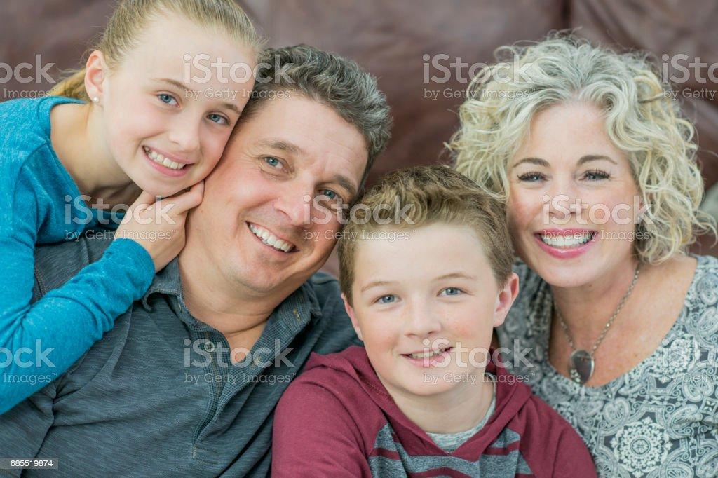 幸福的家庭 免版稅 stock photo
