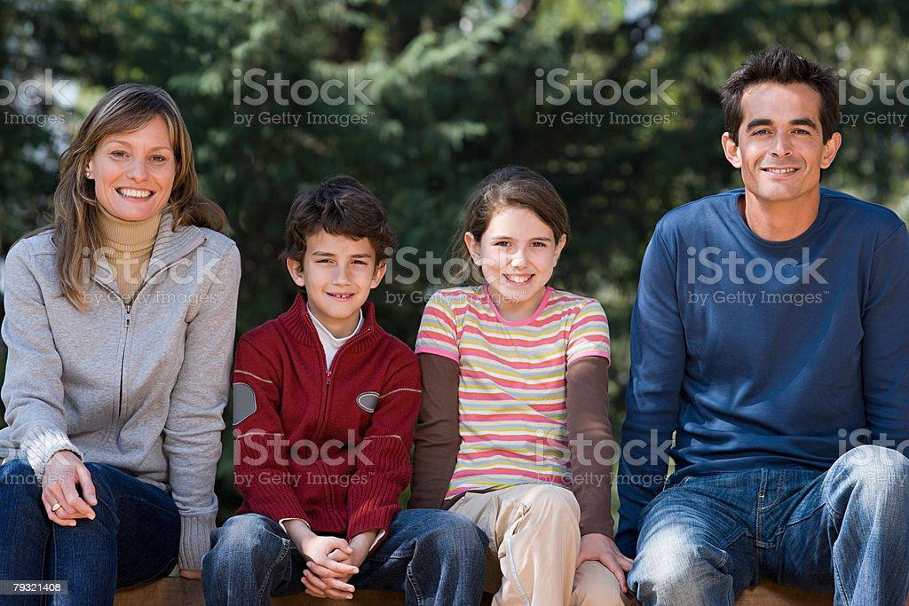 Happy family 免版稅 stock photo