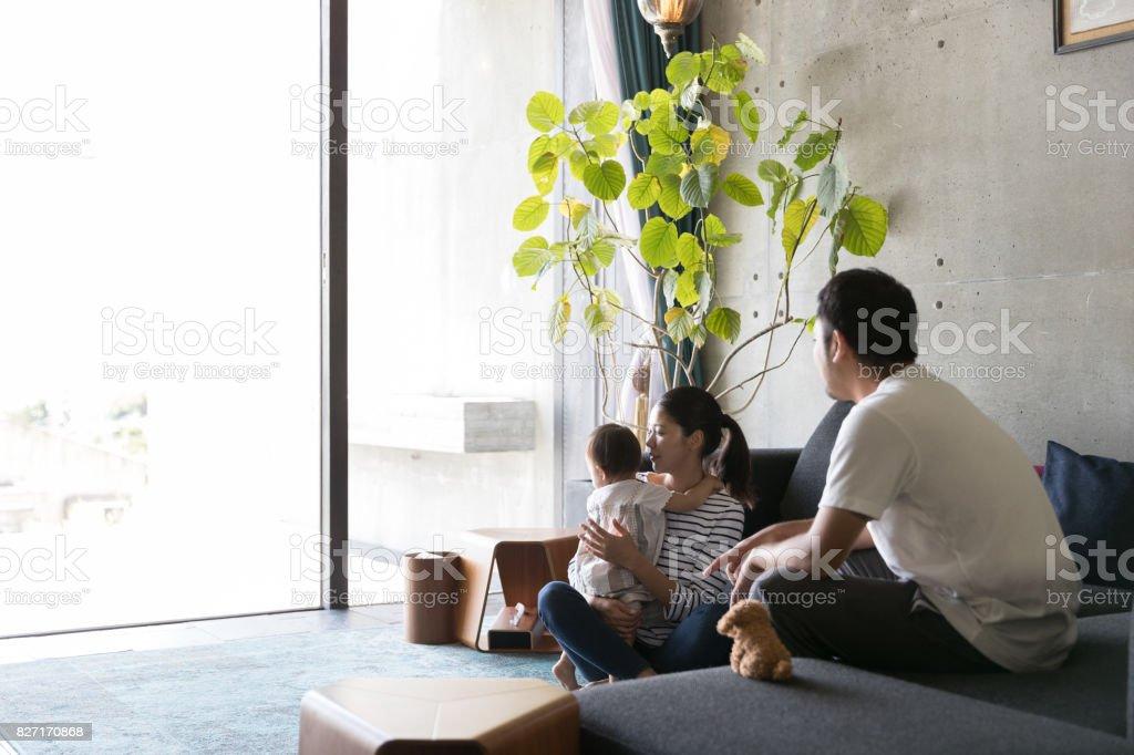 幸せな家族  - しかめっ面のロイヤリティフリーストックフォト
