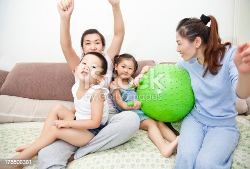 172407626 istock photo Happy family playing together at home 175506361