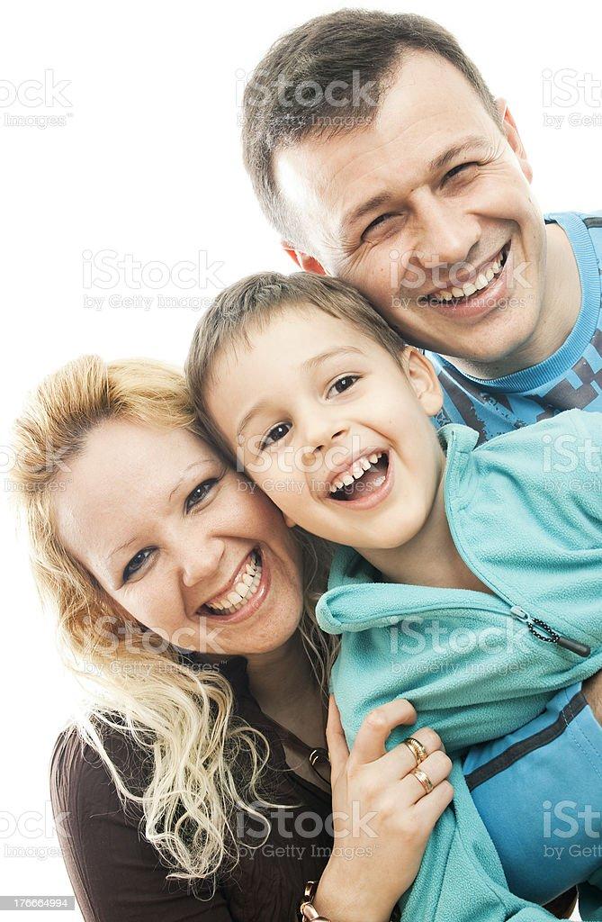Feliz Retrato de familia foto de stock libre de derechos