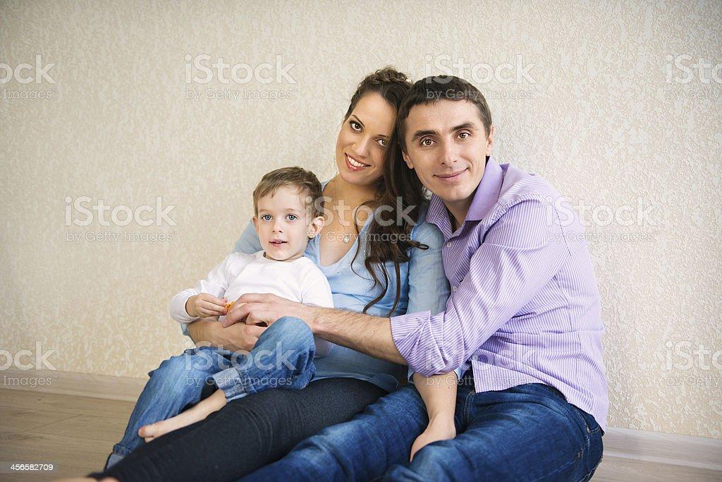 Happy family portrait royalty-free stock photo