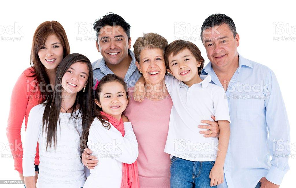 Feliz Retrato de familia - foto de stock