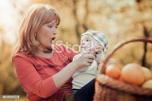 istock Happy family relaxing in the park,having fun. 654694318
