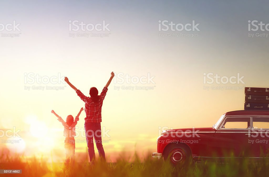 Happy family relaxing stock photo
