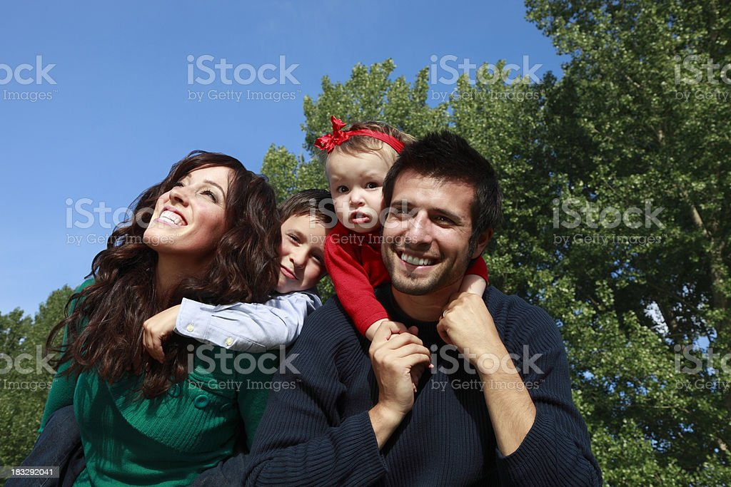 Happy Family Series royalty-free stock photo