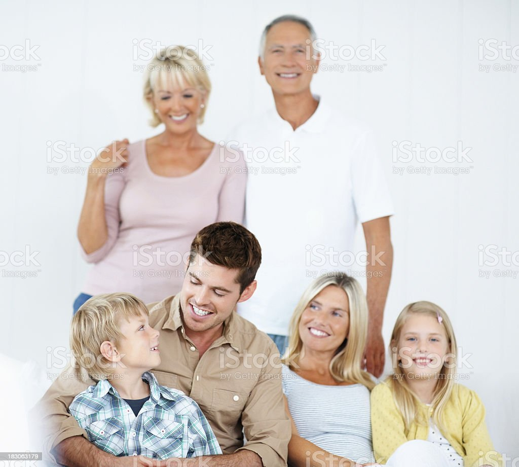Happy family spending a good time together royalty-free stock photo
