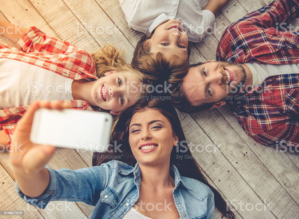 Happy family together royalty-free stock photo