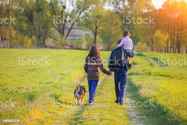 Happy family walking with dog picture id486965326?b=1&k=6&m=486965326&s=612x612&h=uvouuh5ba05zqiqmitsmc39dpzxumtugribnnx 2xt4=