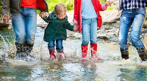Happy family wearing rain boots jumping into a mountain river picture id601938778?b=1&k=6&m=601938778&s=612x612&h=3 sqhwy8evbzyzoo3l2mdj  c8nl4atrvjv0 b5ns10=